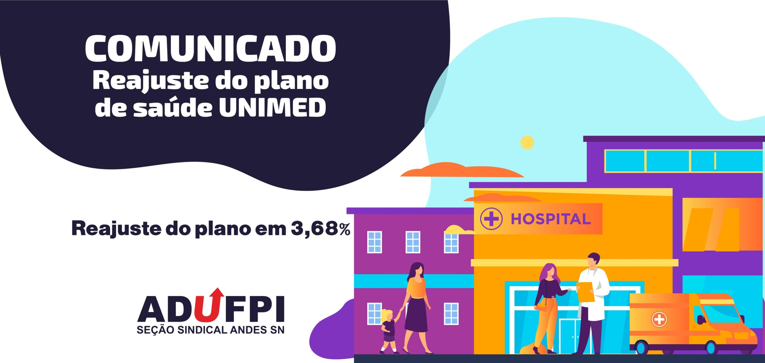 Comunicado -Reajuste do plano UNIMED